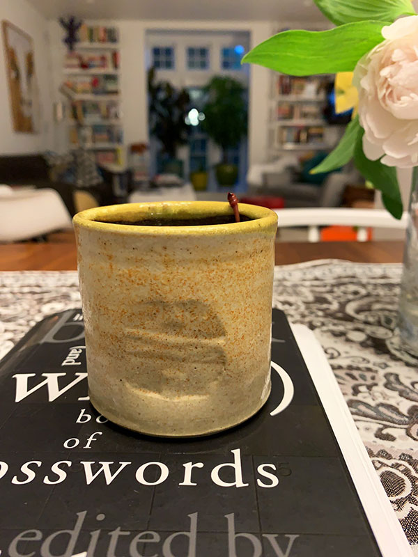 "Hand-Thrown ""Thumb Cup"" with Limited Edition ""Wildwood"" Stamp"